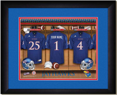 11cb9131b Kansas Jayhawks Personalized Football Locker Room Print