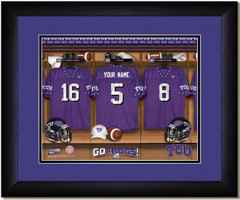 TCU Frogs Personalized Locker Room Print