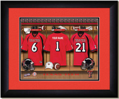Texas Tech Red Raiders Personalized Locker Room Print