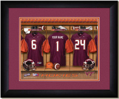 Virginia Tech Hokies Personalized Locker Room Print