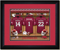 Arkansas Razorback Personalized Locker Room Print