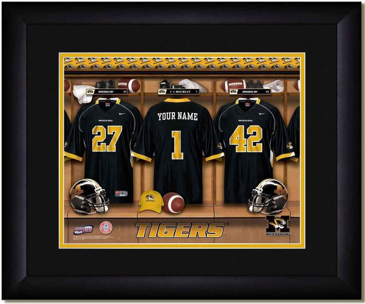 Missouri Tigers Personalized Locker Room Poster