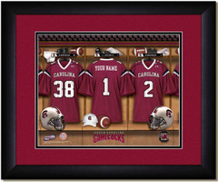 South Carolina Personalized Locker Room Poster