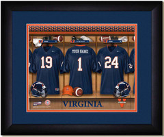Virginia Cavaliers Personalized Locker Room Poster