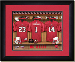 North Carolina State Personalized Locker Room Poster