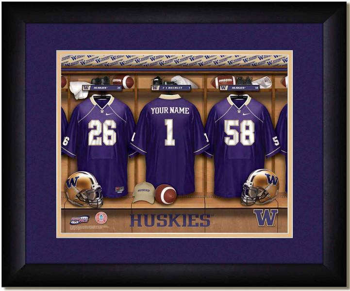 Washington Huskies Personalized Locker Room Poster