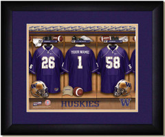 Washington Huskies Personalized Locker Room Poster