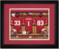 Wisconsin Badgers Personalized Locker Room Poster