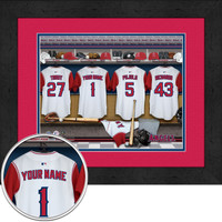 Los Angeles Angels Personalized Locker Room Print