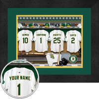 Oakland Athletics Personalized Locker Room Print