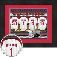 St. Louis Cardinals Personalized Locker Room Print