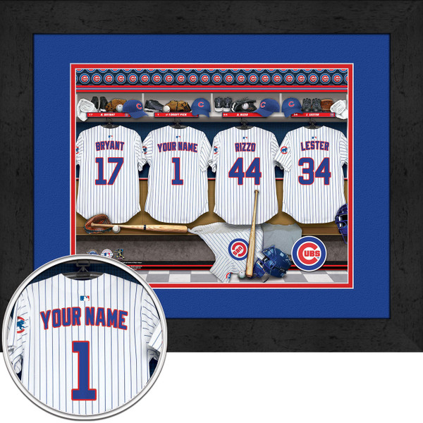 Chicago Cubs Personalized Locker Room Poster