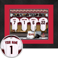 Arizona Diamondbacks Personalized Locker Room Print