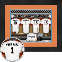 Miami Marlins Personalized Locker Room Print