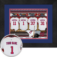 Washington Nationals Personalized Locker Room Print