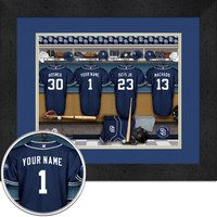 San Diego Padres Personalized Locker Room Print