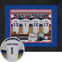 Texas Rangers Personalized Locker Room Print