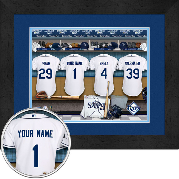 Tampa Bay Devil Rays Personalized Locker Room Poster