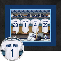 Tampa Bay Rays Personalized Locker Room Print