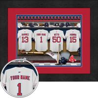Boston Red Sox Personalized Locker Room Print