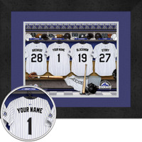 Colorado Rockies Personalized Locker Room Print