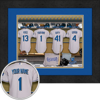 Kansas City Royals Personalized Locker Room Print