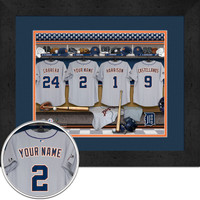 Detroit Tigers Personalized Locker Room Print