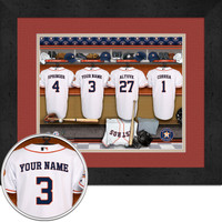 Houston Astros Personalized Locker Room Print