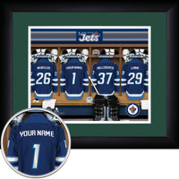 Winnipeg Jets Personalized Locker Room Print