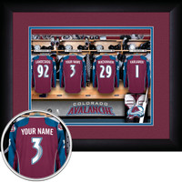 Colorado Avalanche Personalized Locker Room Print