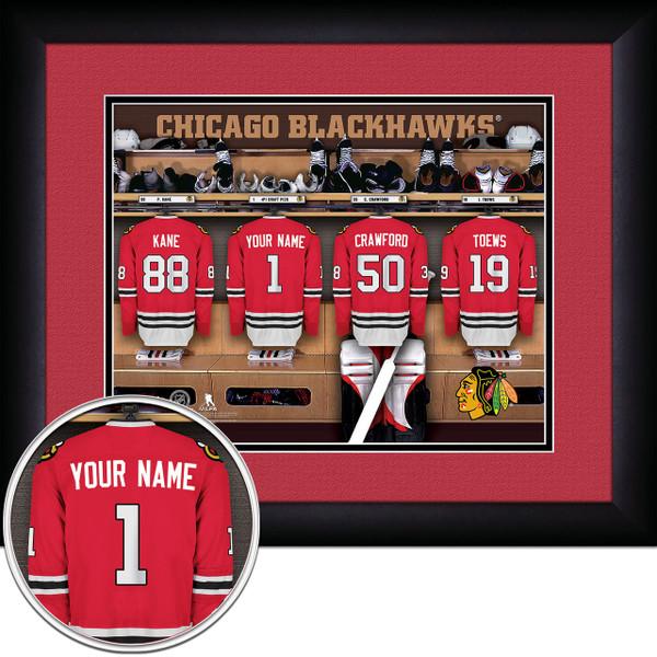 Chicago Blackhawks Personalized Locker Room Print