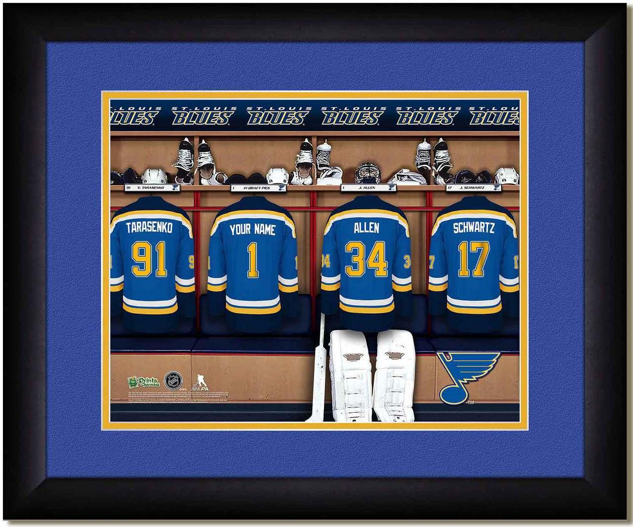 St Louis Blues Personalized Locker Room Print