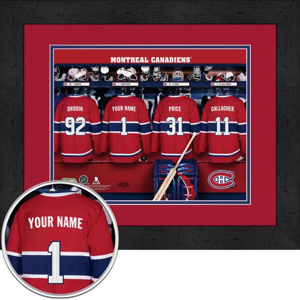 Montreal Canadiens Personalized Locker Room Print