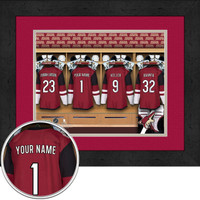 Phoenix Coyotes Personalized Locker Room Print