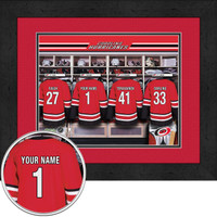 Carolina Hurricanes Personalized Locker Room Print