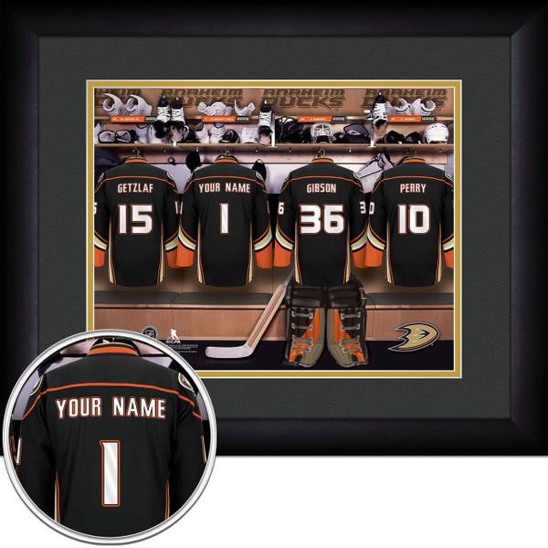 Anaheim Ducks Personalized Locker Room Picture