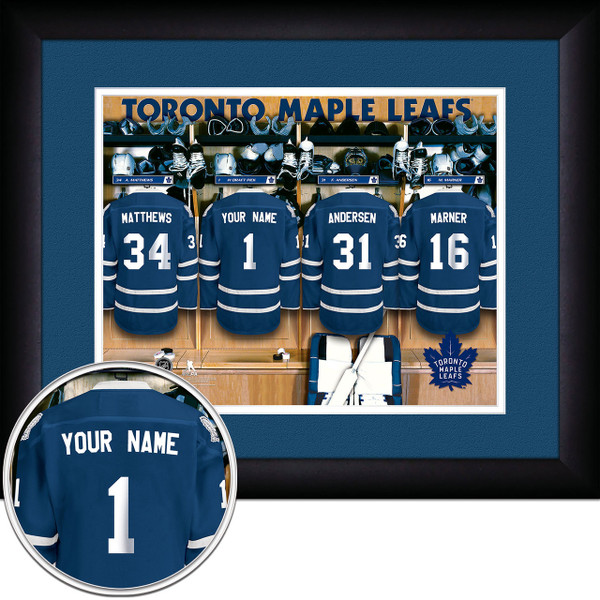 Toronto Maple Leafs Personalized Locker Room Picture