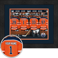 Edmonton Oilers Personalized Locker Room Print