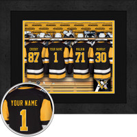 Pittsburgh Penguins Personalized Locker Room Print