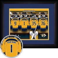 Nashville Predators Personalized Locker Room Print