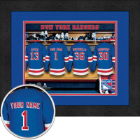 New York Rangers Personalized Locker Room Print