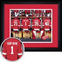 Detroit Red Wings Personalized Locker Room Print