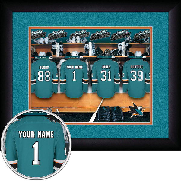 San Jose Sharks Personalized Locker Room Picture