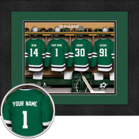 Dallas Stars Personalized Locker Room Print