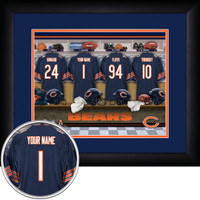 Chicago Bears Personalized Locker Room Poster