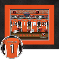 Cincinnati Bengals Personalized Locker Room Poster