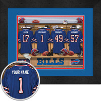 Buffalo Bills Personalized Locker Room Jersey Picture