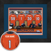 Denver Broncos Personalized Locker Room Posters