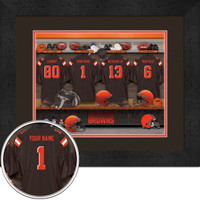 Cleveland Browns Personalized Locker Room Picture