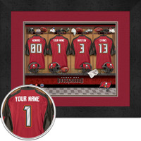 Tampa Bay Buccaneers Personalized Locker Room Photo